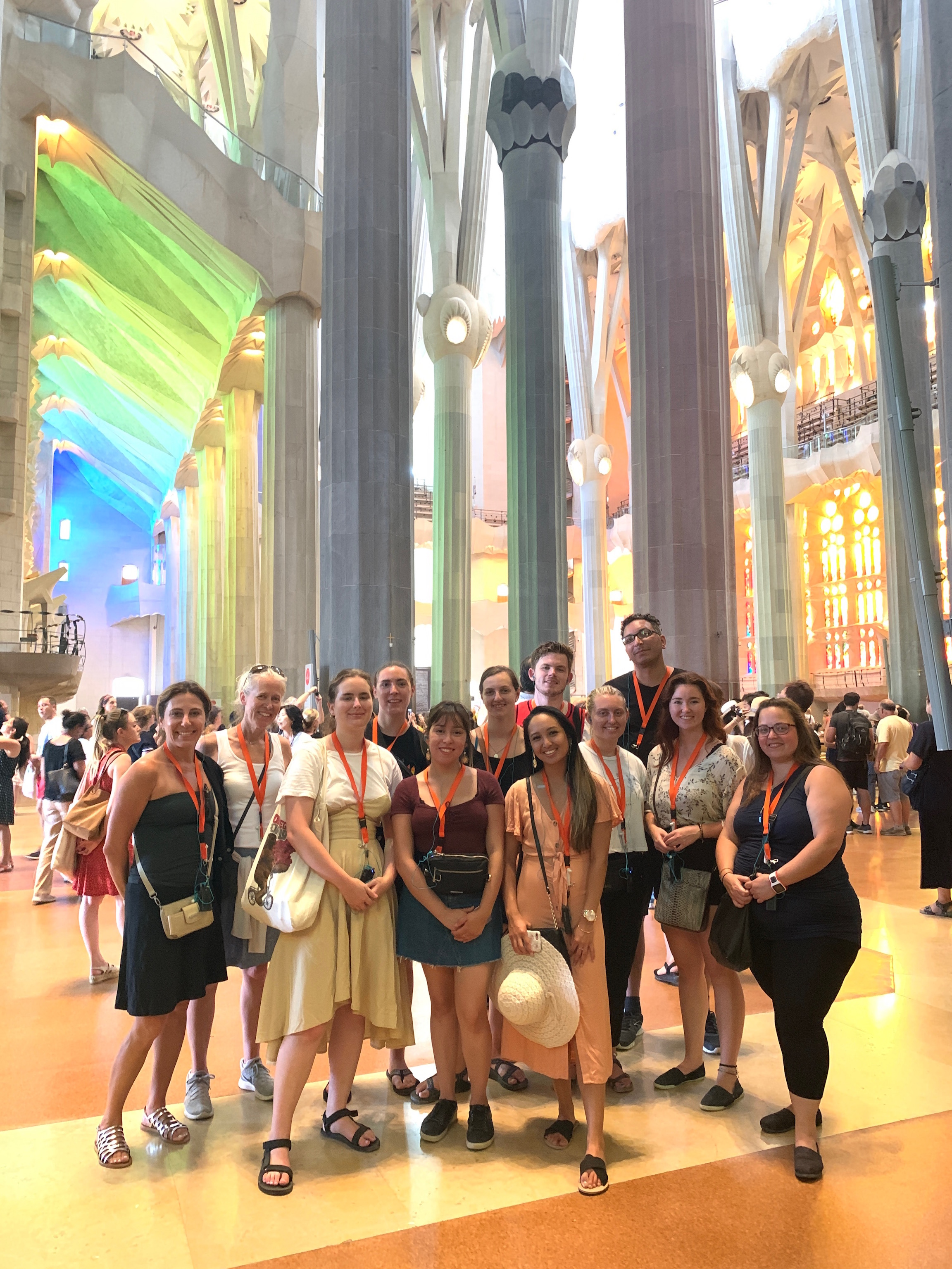 Senior Capstone Students visting the Sagrada Familia in Barcelona,Spain
